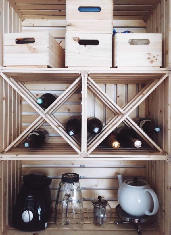 estantería cajas